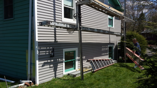 Hadley MA siding, window and gutter job