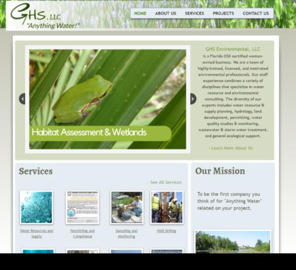 GHS Website Screenshot
