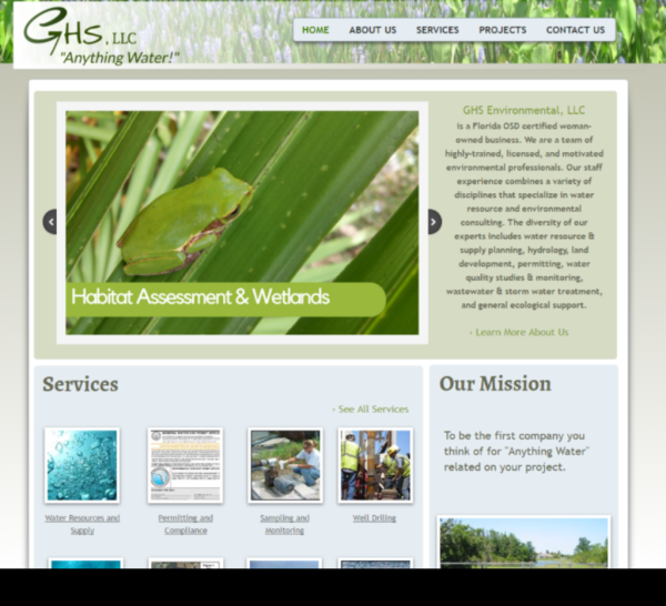 GHS Website Screenshot