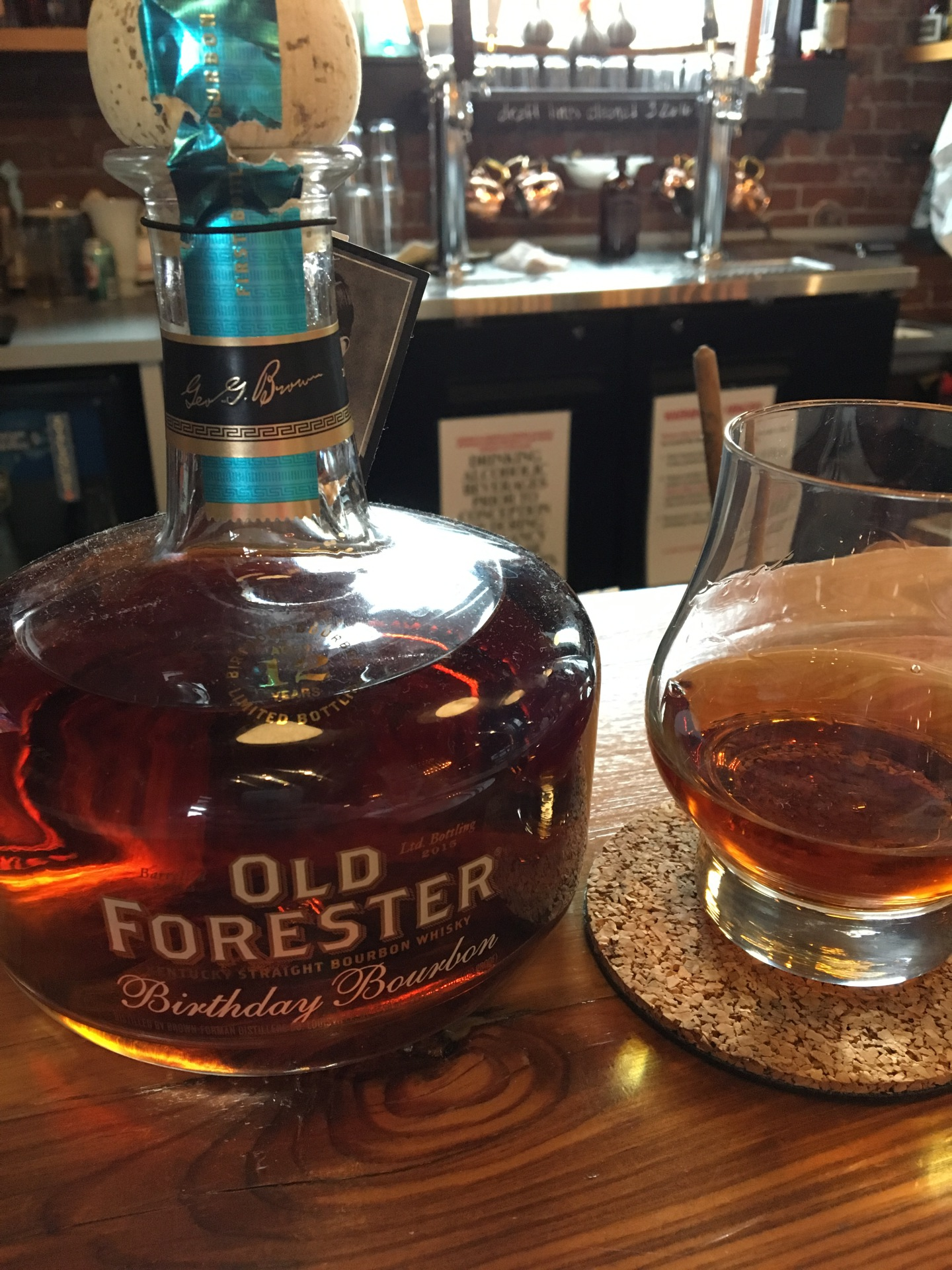 Old Forester Birthday Bourbon 2015