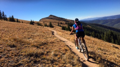 mountain biking monarch crest trail