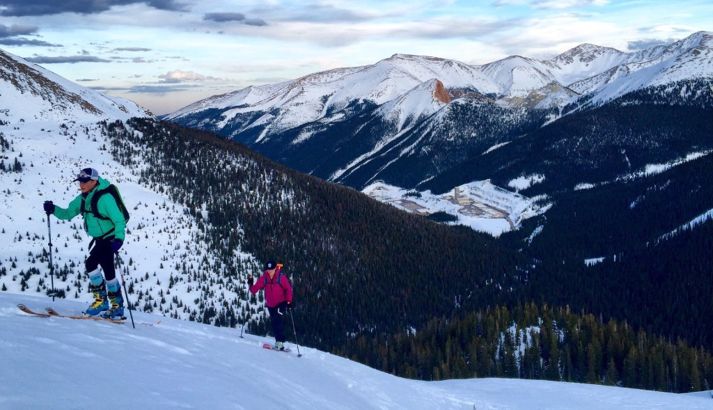 Back country skiing on Jones Pass