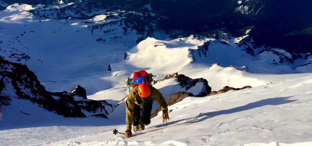 Yank climbing the Fuhrer Finger on Mt. Rainier