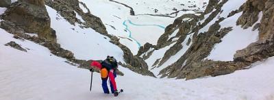Climbing the Middle Teton