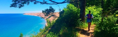 Running the pictured rocks lakeshore trail
