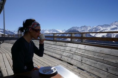 Skiing from France to Italy and back