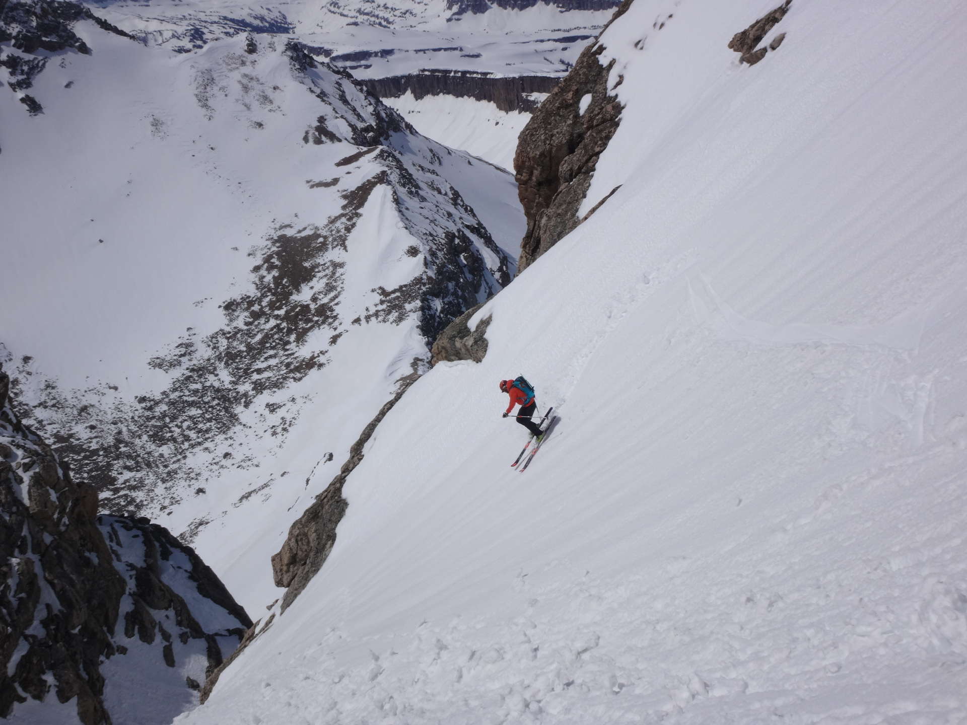 Skiing the South and Middle Teton