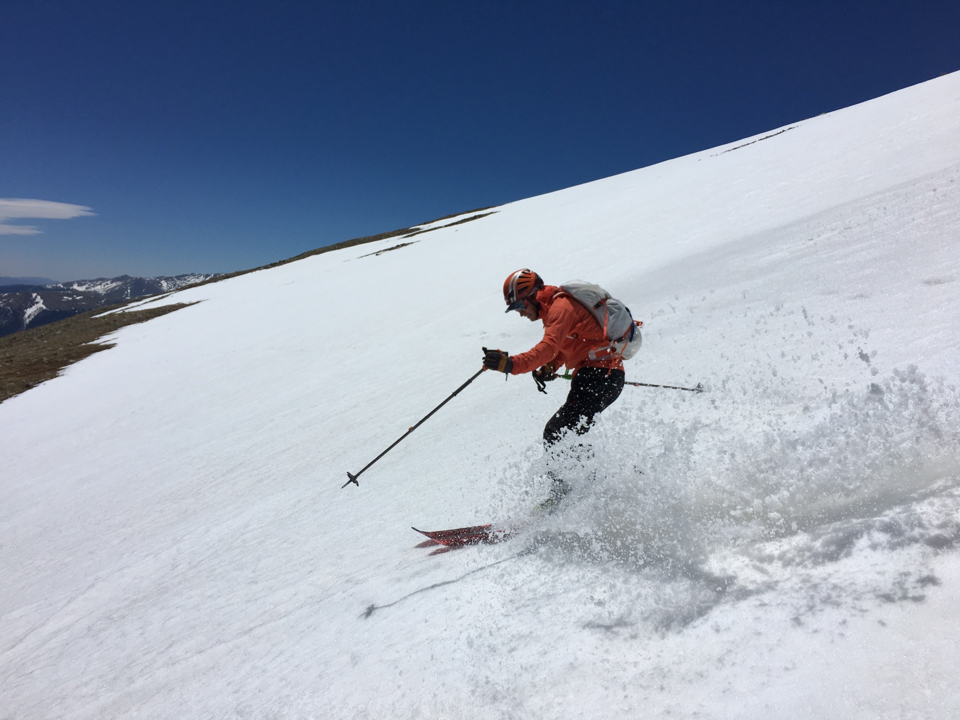Skiing Mount Elbert