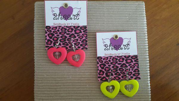 Neon Heart Earrings