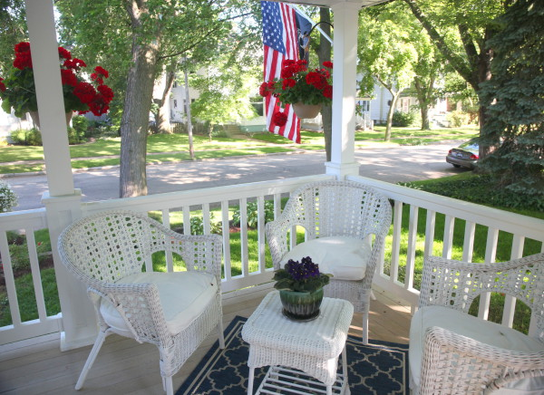 Relax on our front porch