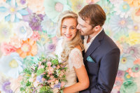 spring wedding, paper flower backdrop, perfabulous, paper flower wedding, paper flower london