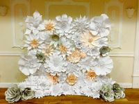 spring wedding, paper flower backdrop, perfabulous, paper flower wedding, paper flowers london