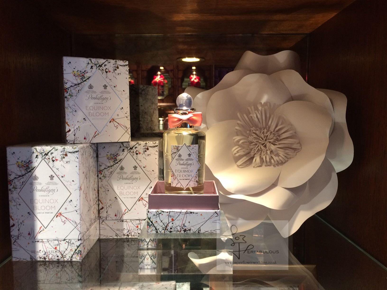 paper flowers london, shop decor, perfabulous, paper flowers backdrop