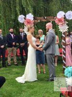 spring wedding, paper flower backdrop, perfabulous, paper flower wedding, arch decor, oversized paper flowers