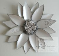 keepsake, monogrammed paper flower, perfabulous, paper flowers london