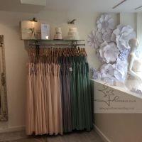 window display, paper flowers london, oversized paper flowers, perfabulous