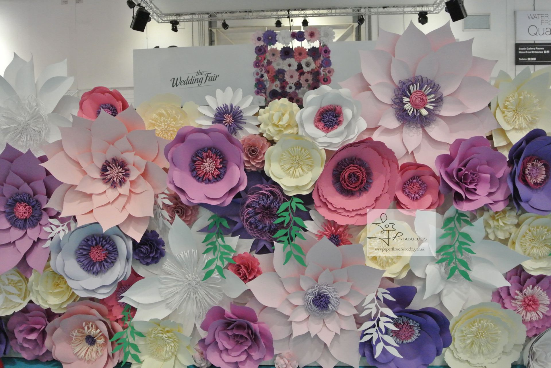 catwalk, fashion show, paper flowers, london paper flowers, perfabulous