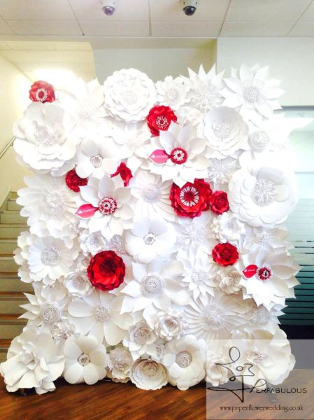 paper flowers backdrop, paper floral artistry, perfabulous