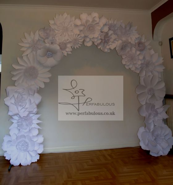 paper flowers backdrop hire, london paper flowers, paper flowers arch hire, london paper flowers backdrop rental