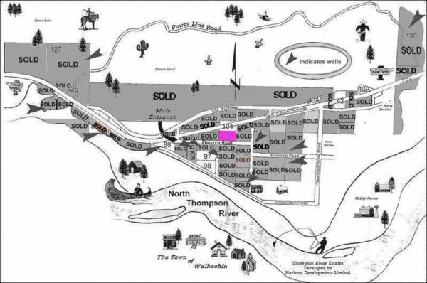 Thompson Rivers Estates Map