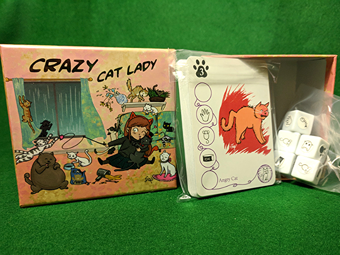 Crazy Cat Lady box and contents
