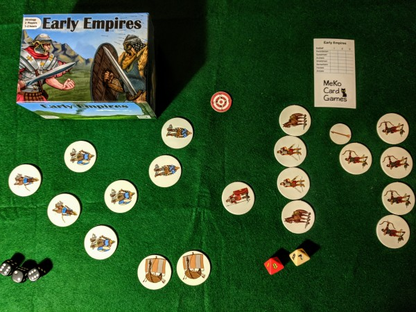 Example of Early Empires game in progress