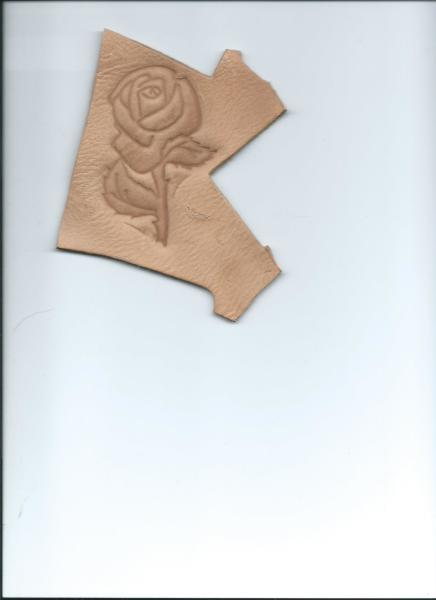 A Rose on leather