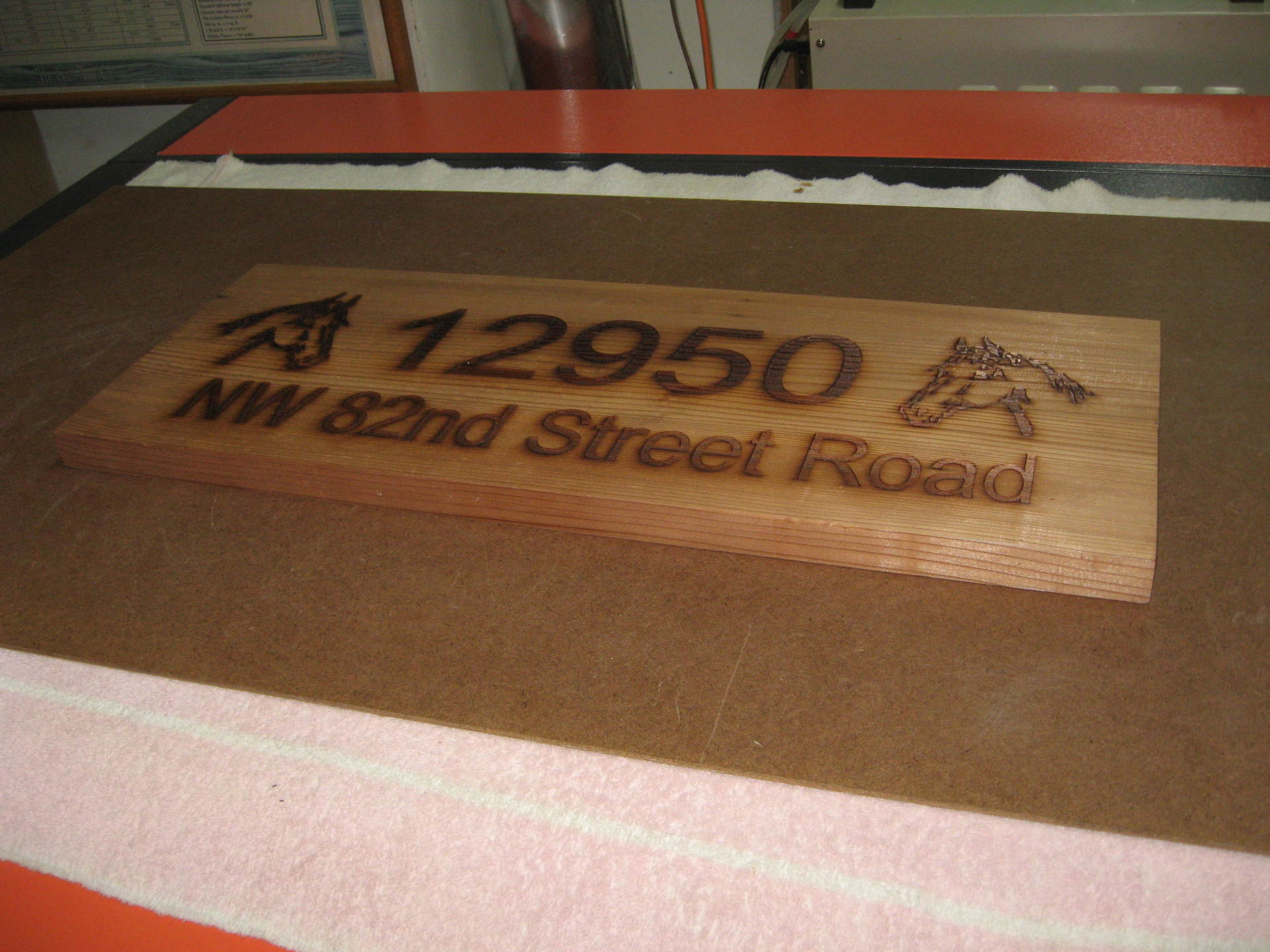 Address on Wood