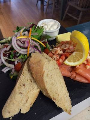 Salmon and Crayfish Platter