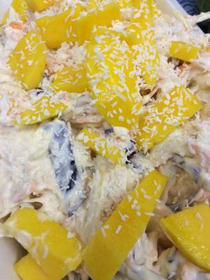 Mango and Coconut infused Coleslaw