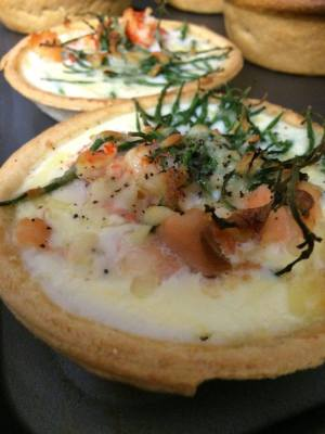 Salmon, Crayfish and Dill Tarts