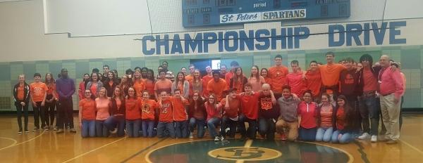 St. Peter's Students & Prosecutor Bishop Wear Orange for Love