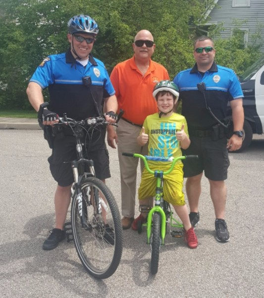 Bike-a-palooza with Mansfield Police 2017