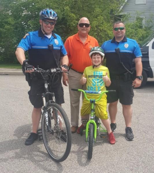 Bike-a-palooza with Mansfield Police