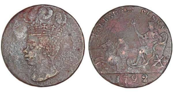 Penny Issued in Barbados