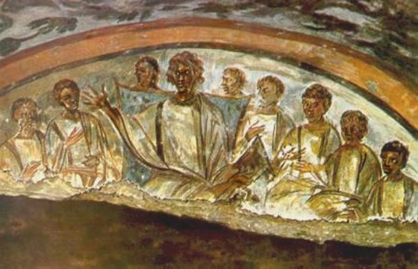 Yeshua 300 C.E.. from Domitillia ROME Cemetary Wall Painting