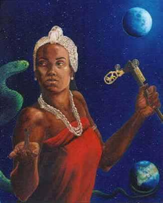 Goddess Mawu....In Dahomey mythology