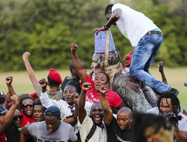 Statue of White Terrorist Cecil Rhodes Finally Comes Down in South Africa!