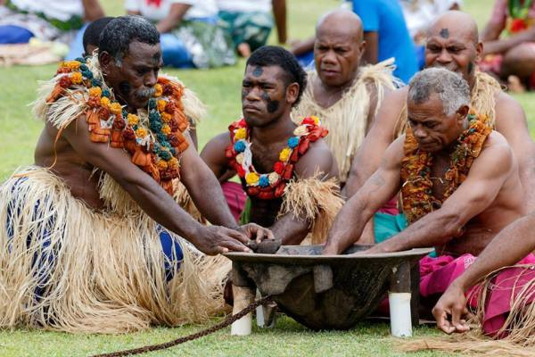 The Fijians continue to celebrate their culture