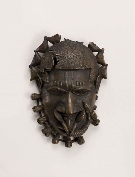 18th Century Benin Brass hip pendant