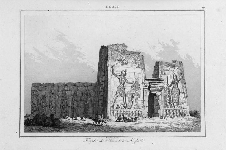 The Lion Temple of Naqa in Sudan