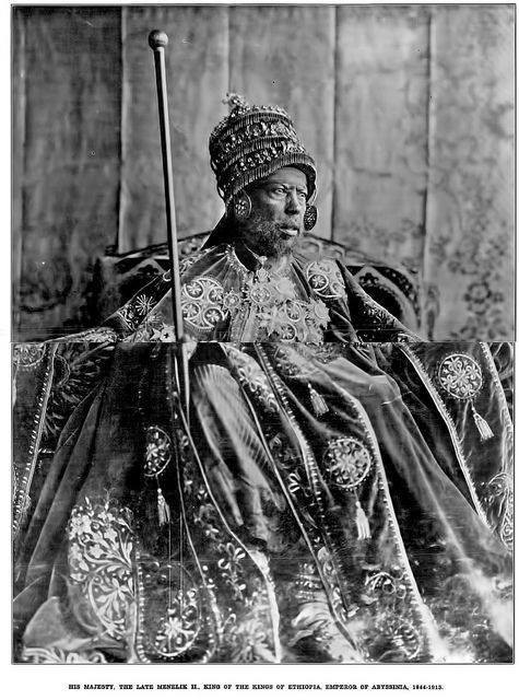 Majesty King Menelik II, King of the Kings of Ethiopia
