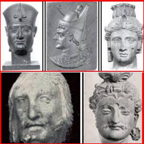 THE FACES OF THE INVADERS OF KEMET ....Aryan Invaders , Imitators and Absolute Destroyers.