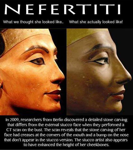 The Right Bust of  Queen Nefertiti.....