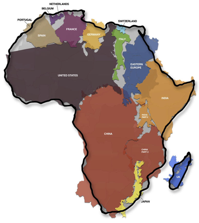 THE TRUE SIZE OF AFRICA....WHY DID THEY LIE?