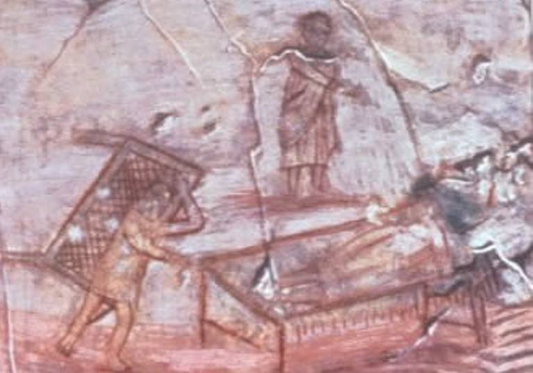 The Healing of the Paralytic.....Is the earliest known representation of Jesus through Heru