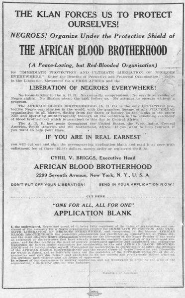 The African Blood Brotherhood for African Liberation....