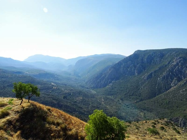 Delphi View, Visiting Greece - Delphi