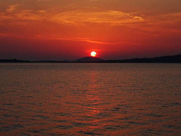 Sunset at Ethnik Bar - Tristinika Beach