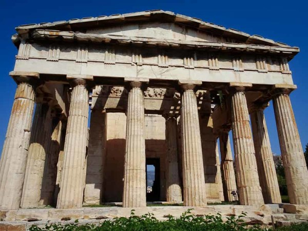 Temple of Hephaestus - Athens: front view